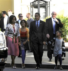 Barack Obama and family attended St. John's Episcopal Church