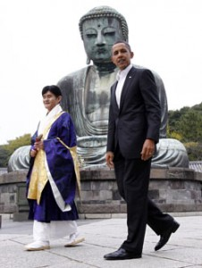 Obama revisits Kamakura's Great Buddha